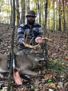 Hunter Hanks downed this nice Lincoln Parish 11-pointer on Nov. 21, about two weeks after he shot a nice 8. The two deer combined totaled about 300 inches of bone.