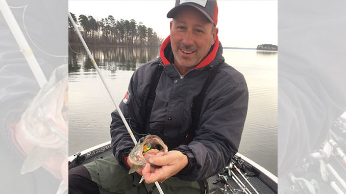 Dusty Anders used Rat-L-Trap's new MR-6 crankbait on a successful December trip at Toledo Bend.