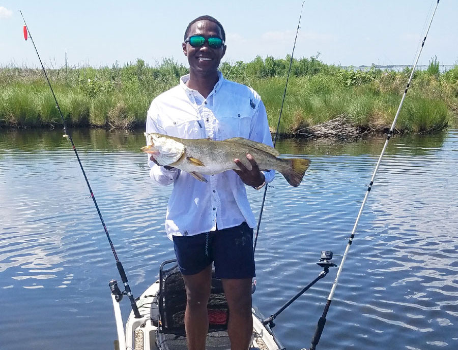 Kenneth Dominique of White Castle caught his personal best speckled trout in Pointe-aux-Chenes. This whopper weighed 6.74 pounds and was 27 inches long.
