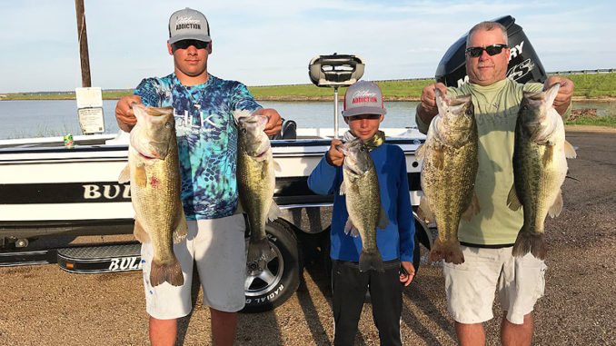 Lane Martin of Paulina and his two sons, Hunter and Jace, caught a whopping 30.59-pound best-five fish stringer on Toledo Bend.