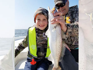 Rusty Critselous and Hudson Brister from Ruston had a great day fishing out of Cocodrie on Feb. 17.