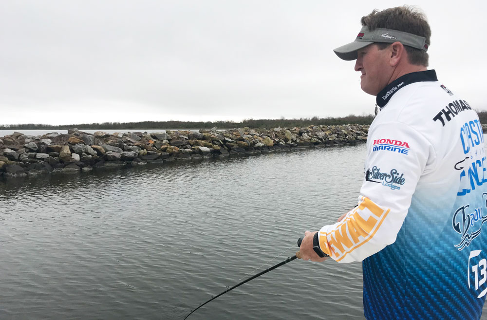 When weather conditions cooperate, the Mississippi River Gulf Outlet is a great place to target speckled trout in March.