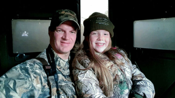 Youth Hunter of the Year female winner Kynlee Buras (right) with father Rusty Buras.
