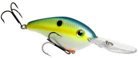 Strike King 6XD crankbait in chartreuse sexy shad.