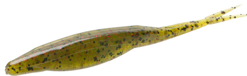 A Zoom Fluke fished on a weightless worm hook is a great bait for bedding bass.