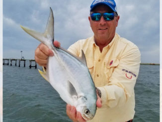 Finishing the day off with pompano put icing on the cupcake for many of Guide Tommy Pellegrin's March trips.