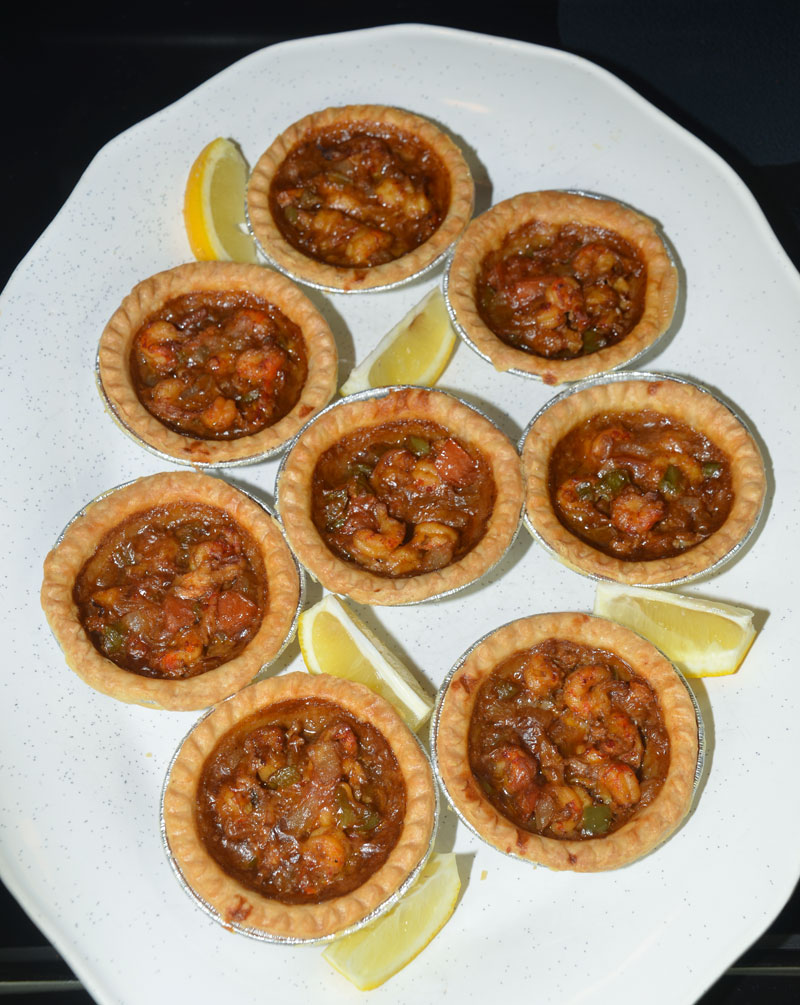 Mikey's crawfish pies are a unique Louisiana dish.