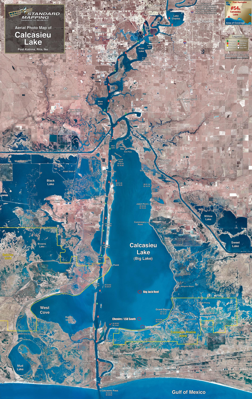map of calcasieu lake Calcasieu Lake Map Louisiana Sportsman map of calcasieu lake