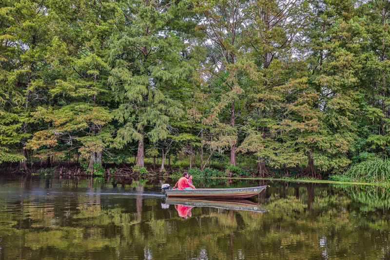 You don't have to own a big fancy rig to enjoy the quiet waters of the Chicot State Park. (Photo courtesy P.J. Hahn©2018)