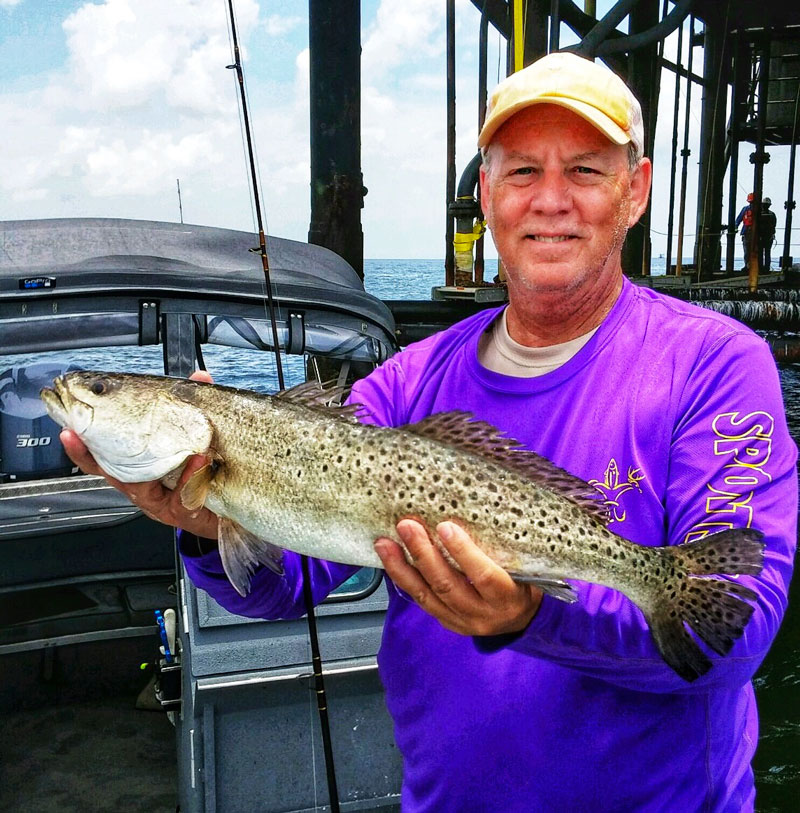 David Price of Luling caught this 3-pounder at a Fourchon Rig.