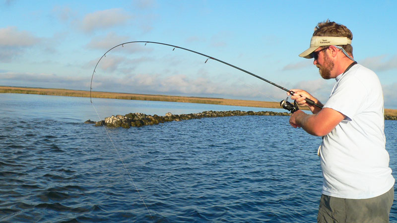 Once you get to the rocks, fish both towards them and out into the channel.