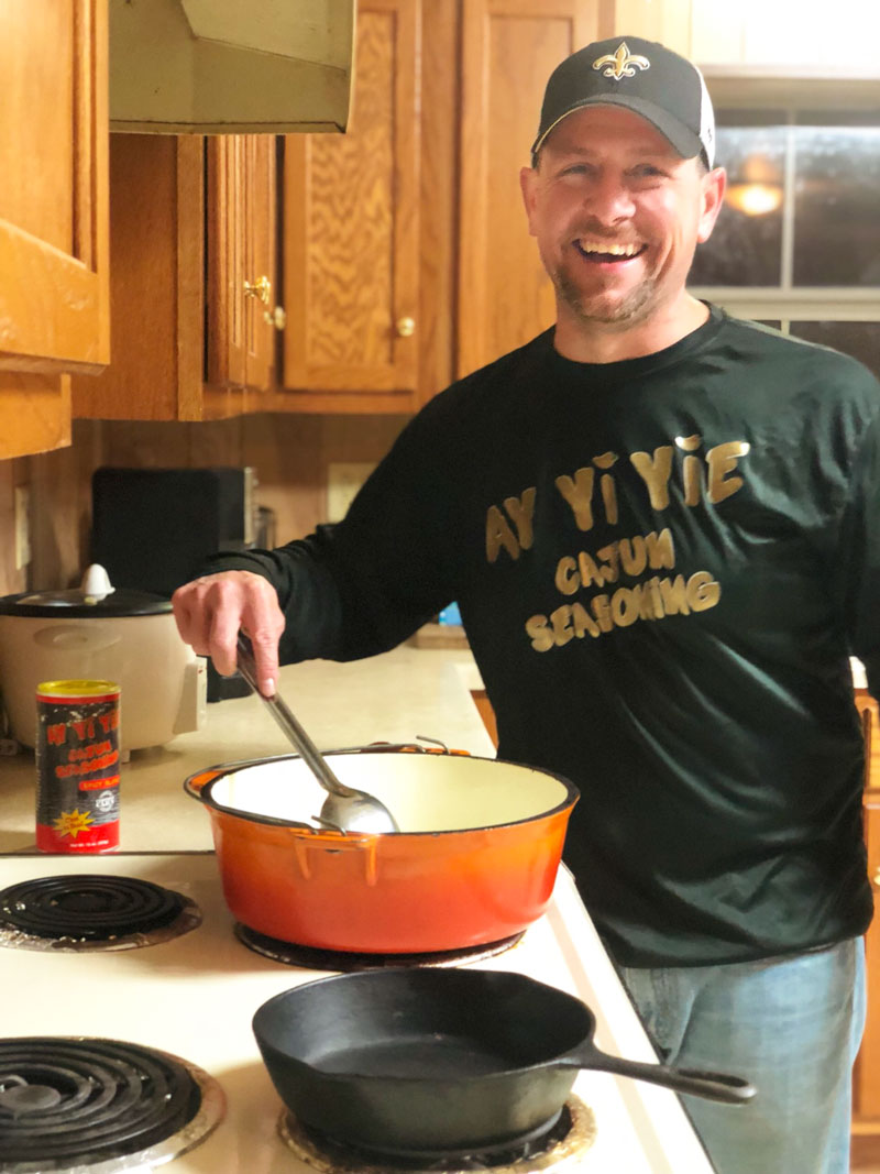 Mikey Legendre took his cooking to a new level when he invented his Cajun seasoning.