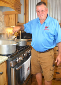 Barry Toups does all the cooking at Crawfish Haven, his Kaplan bed and breakfast.
