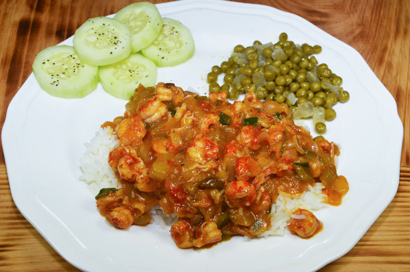 Besides tasting delicious, this crawfish étouffée is a quick dish to prepare.