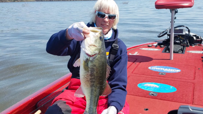 John Dean caught this 61/2-pounder on the next-to-last week of March on a Carolina-rigged Zoom Super Fluke at Toledo Bend.