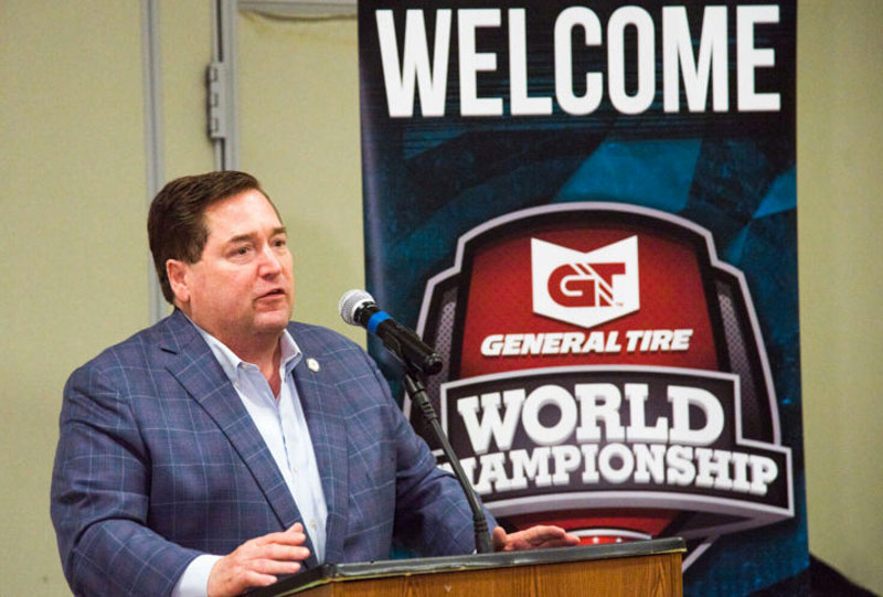 Louisiana Lt. Governor Billy Nungesser welcomed MLF to the state for the championship. (Photo courtesy MLF)
