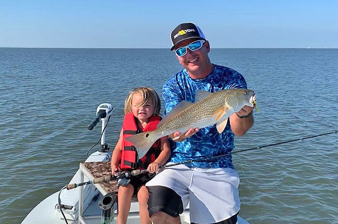 Chas Champagne and daughter Charleigh caught plenty of nice redfish in Lake Pontchartrain on June 10.