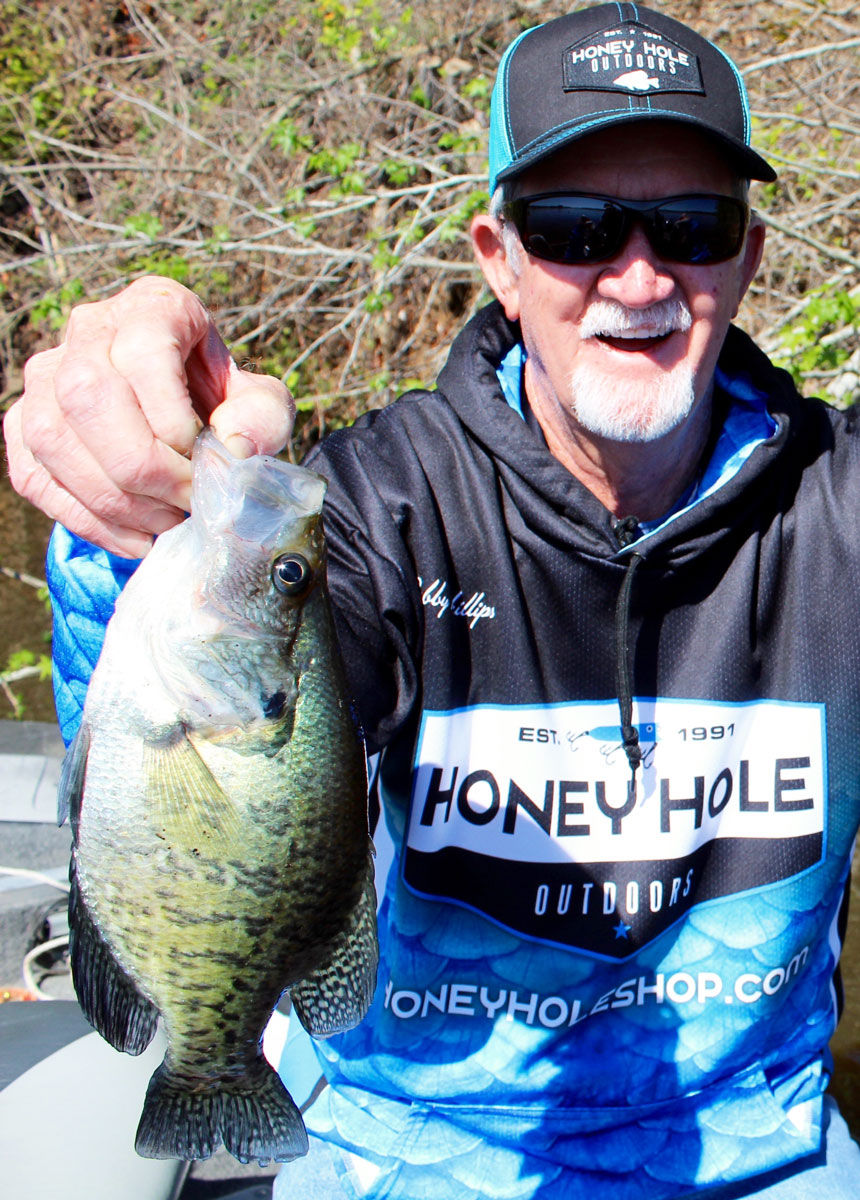 Veteran crappie angler Bobby Phillips shows the results of the river getting right.