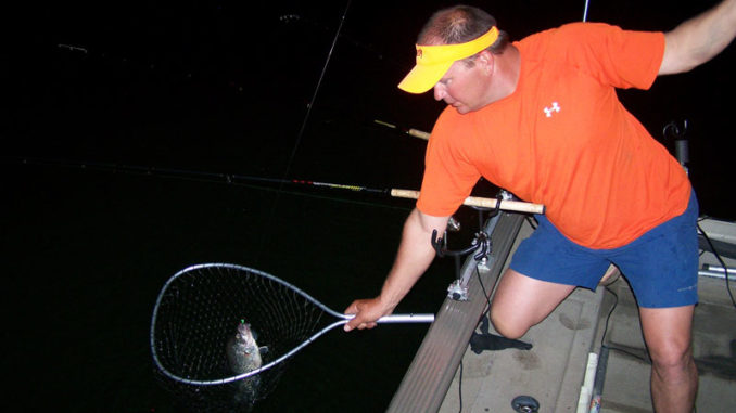 Crappie will bite at night, especially if you follow a few guidelines. (Photo by Phillip Gentry)