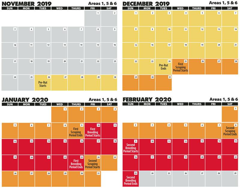 2022 Rut Calendar.2019 2020 Areas 1 5 6 Rut Calenders Louisiana Sportsman