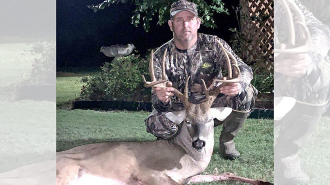 Andy Harrison and his 148-inch Union Parish buck. (Photo courtesy of Andy Harrison)