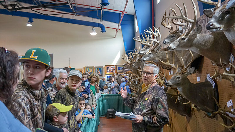 The author in his element at the 2019 Louisiana Sportsman Show in Gonzales.