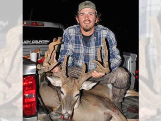 Parker Bailey's 160-inch velvet buck was taken Oct. 26 in Claiborne Parish.