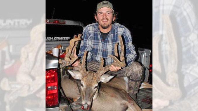 Parker Bailey's 160-inch velvet buck was taken Oct. 26 in Claiborne Parish.