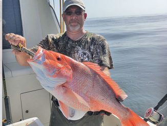 Rick Jones with nice red snapper fishing in East Cameron out of Cypremort Point.
