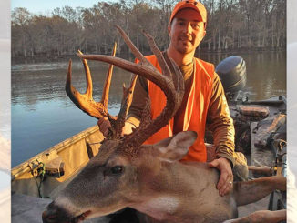 Brandon Burke and his 13-point Avoyelles Parish buck that had a green score of 173 inches.