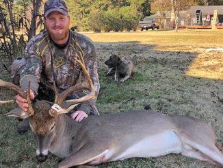 Jonathon Zell and his big Grant Parish 8-point buck