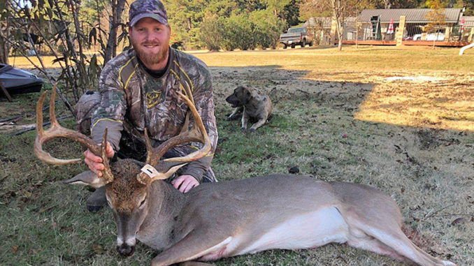 Jonathon Zell and his big Grant Parish 8-point buck