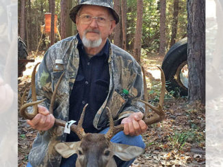 Tommy Thompson and his Vernon Parish 10-point buck.