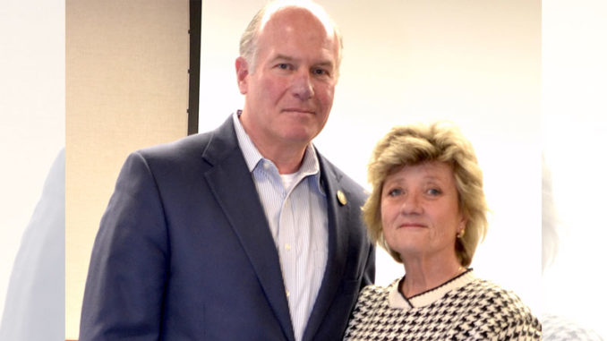 New Louisiana Wildlife and Fisheries Commission Chairman Bill Hogan (left) and Vice-Chair Jerri Smitko.