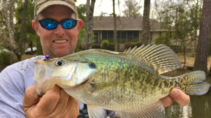 Jeff Bruhl tight-lines crappie jigs to catch slabs this time of year.