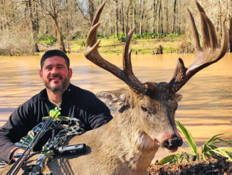Blake Knoll and his 166-inch Avoyelles Parish buck.