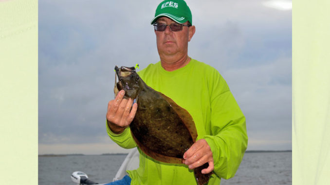 Besides speckled trout and redfish, southern flounder are a very popular species for Louisiana saltwater anglers such as Craig Vidrine. Recently however, there are dramatic declines in southern flounder in Louisiana coastal waters. (Photo by Chris Berzas)