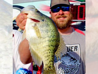 Dan Langston shows off this 3.25 pound crappie.