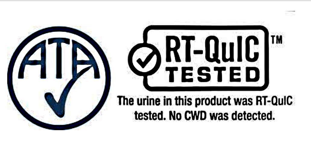 Label showing ATA and RT-QuIC tested logo. (Photo courtesy of Tommy Tuma)