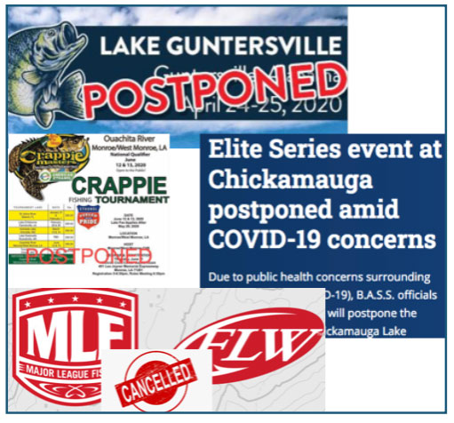 Announcements like these have dotted professional fishing webpages and news releases the past two months.