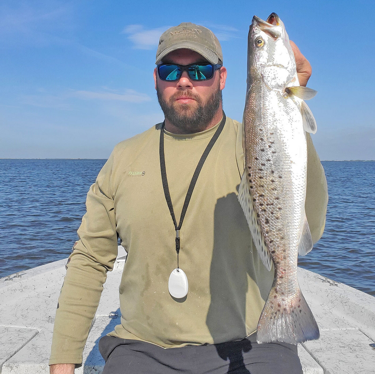 Brian Windsor has experienced better quality fish and more of them this spring in Calcasieu Lake. (Photo courtesy by Brian Windsor)