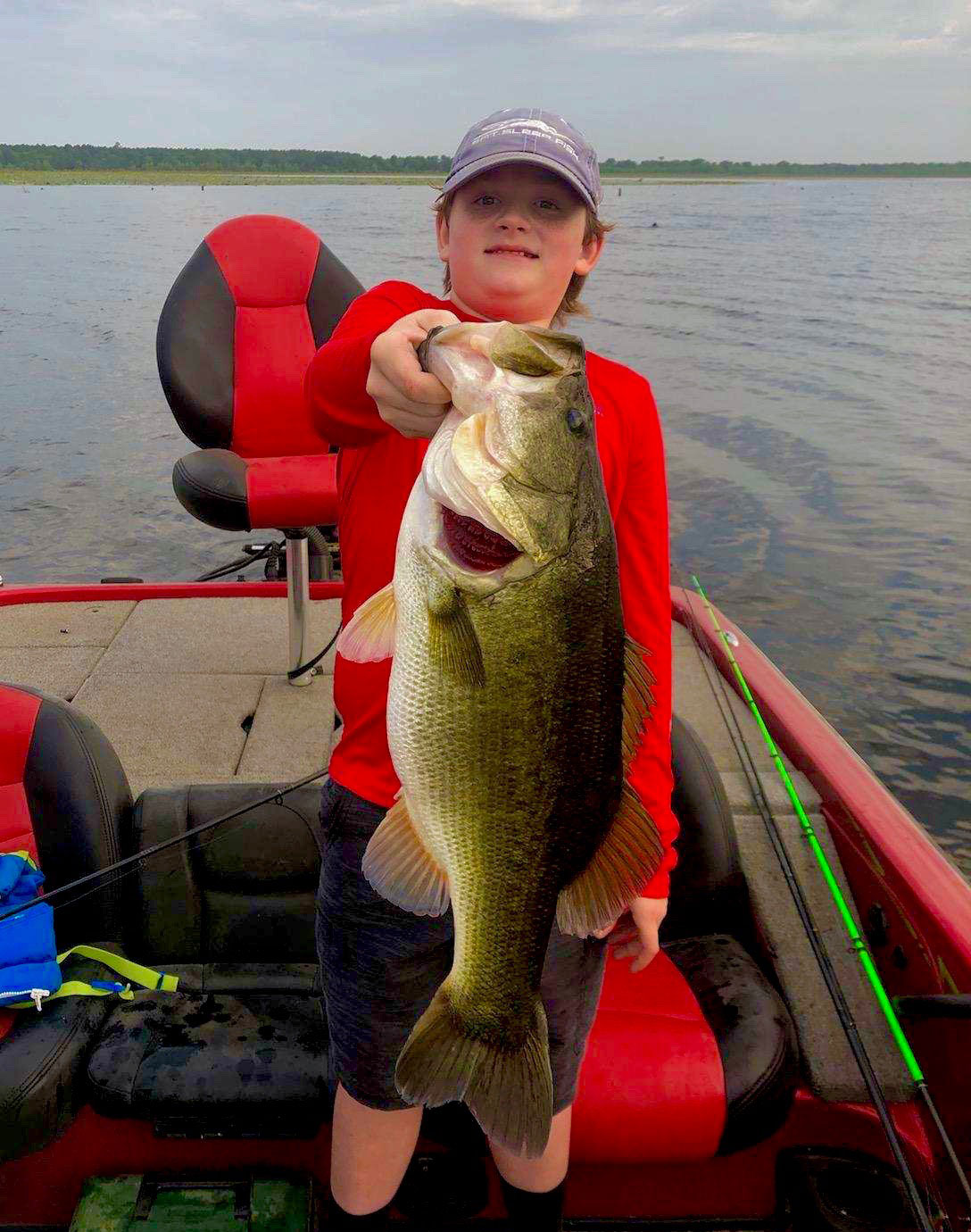 A new crop of young anglers got to fish the reservoir this time around, like Dylan Bachot, who caught this Bussey Brake brute.