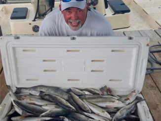 Capt. Bobby Gros said Leeville anglers will have plenty of action on the beaches for specks and white trout.