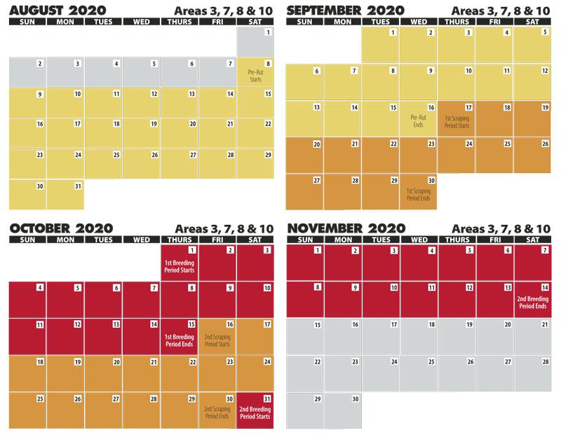 2022 Rut Calendar.Louisiana S 2020 Rut Report Louisiana Sportsman