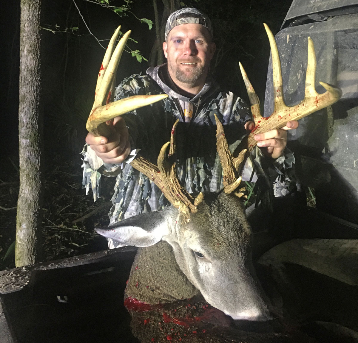 Ben Brallier and his 14-point Concordia Parish buck that scored a whopping 172 5/8 inches of antler.