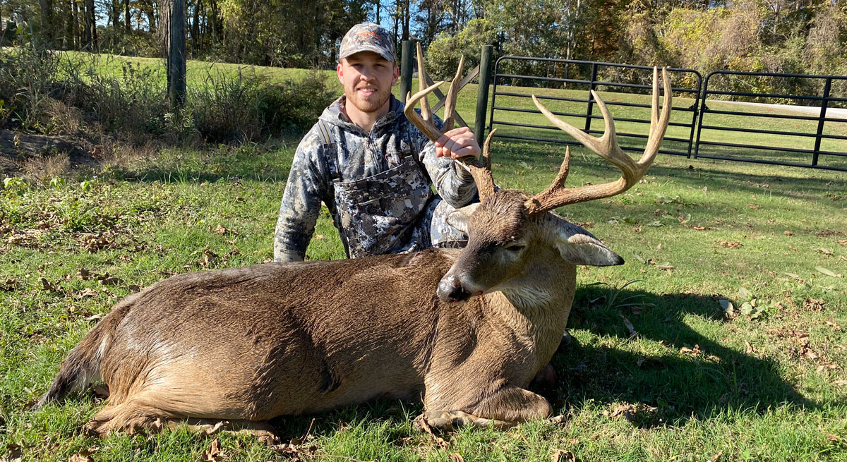 Lane Cox took this buck measuring 153 6/8 inches on Nov. 23 at the Winter Quarters Hunting Club in Tensas Parish.