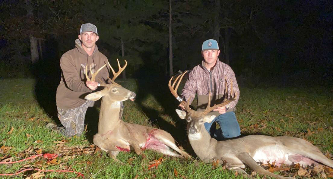 On Nov. 15, Josh Hailey (right) took an impressive 13-point buck and his buddy Beau Jones downed a nice 8-point at the Kisatchie National Forest.