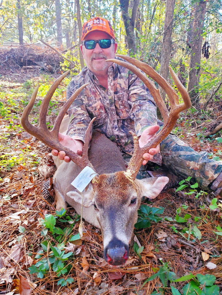 Teddy Dupuy took this big 8-point buck at Kisatchie National Forest in Grant Parish.