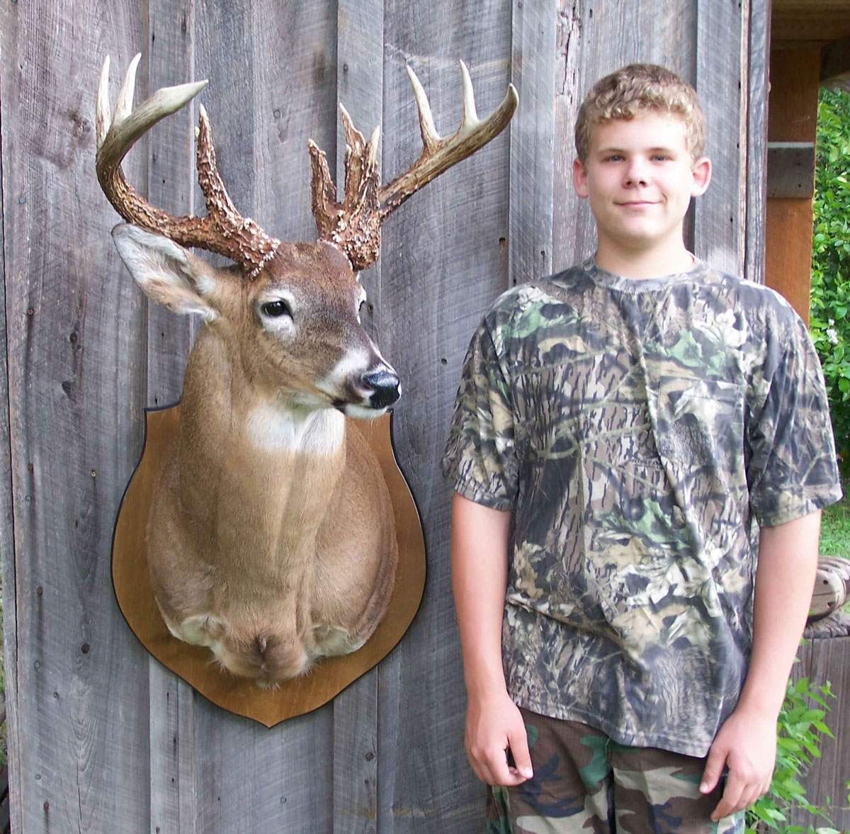 Hunter Bordelon took this buck 15 years ago from the same stand he got another trophy recently.
