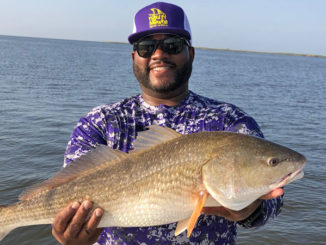 This huge redfish seems to prove Brent Taylor's point that when you look good, you fish good.